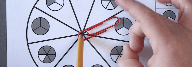 Fractions Worksheets - Printable Spinner Games
