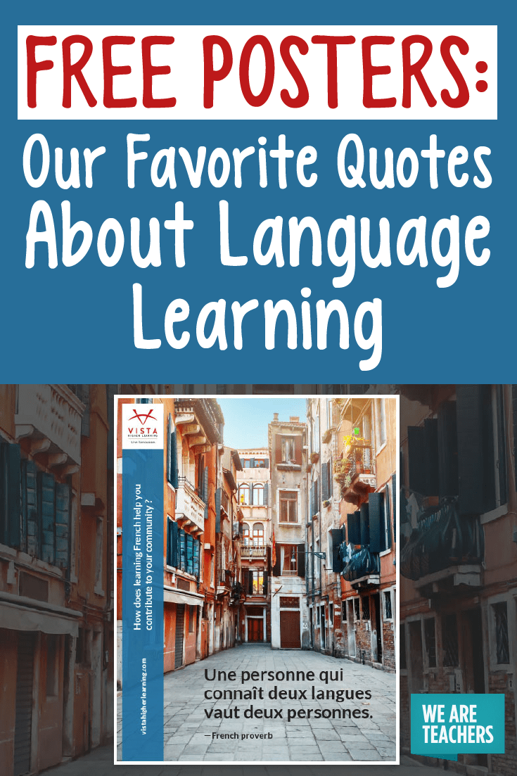 Quotes About Language Learning Free Posters For The Classroom