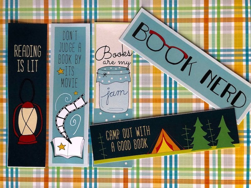 Free Printable Bookmarks - Camp Out With a Good Book