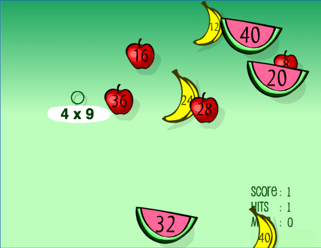 Fruit Splat Game - The Best Online Interactive Math Games