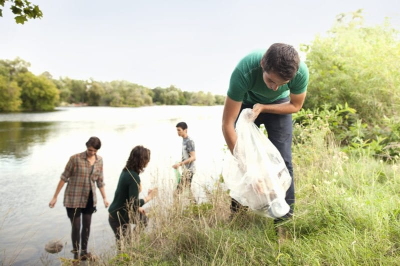Kids at a river -- climate and environmental volunteer projects for teens