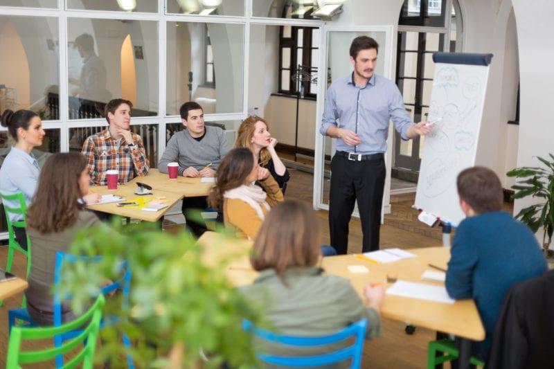 Staff Meeting with teachers