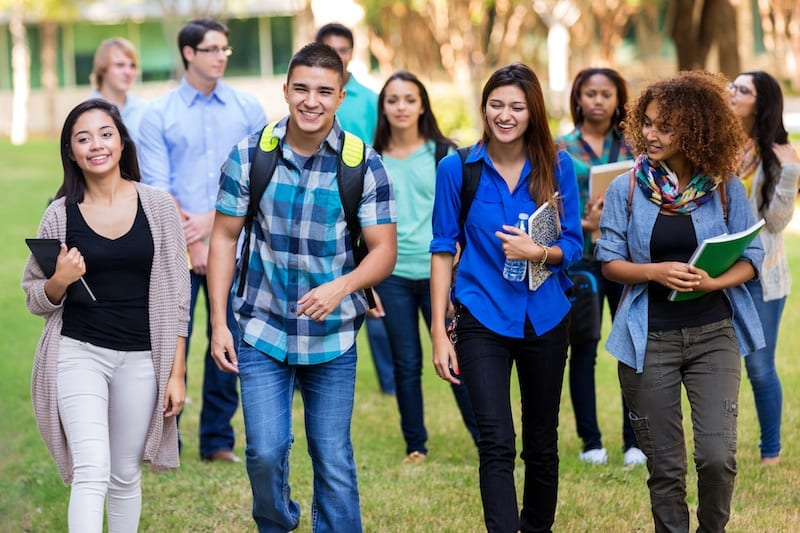 Teenagers on Campus