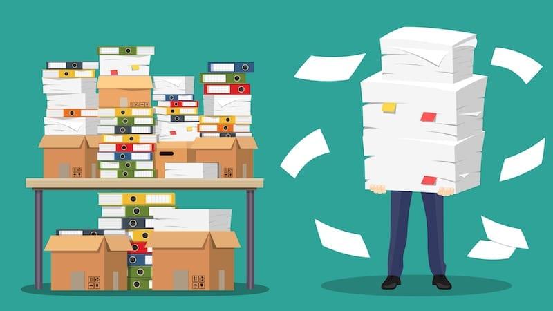 illustration of stacks of paper