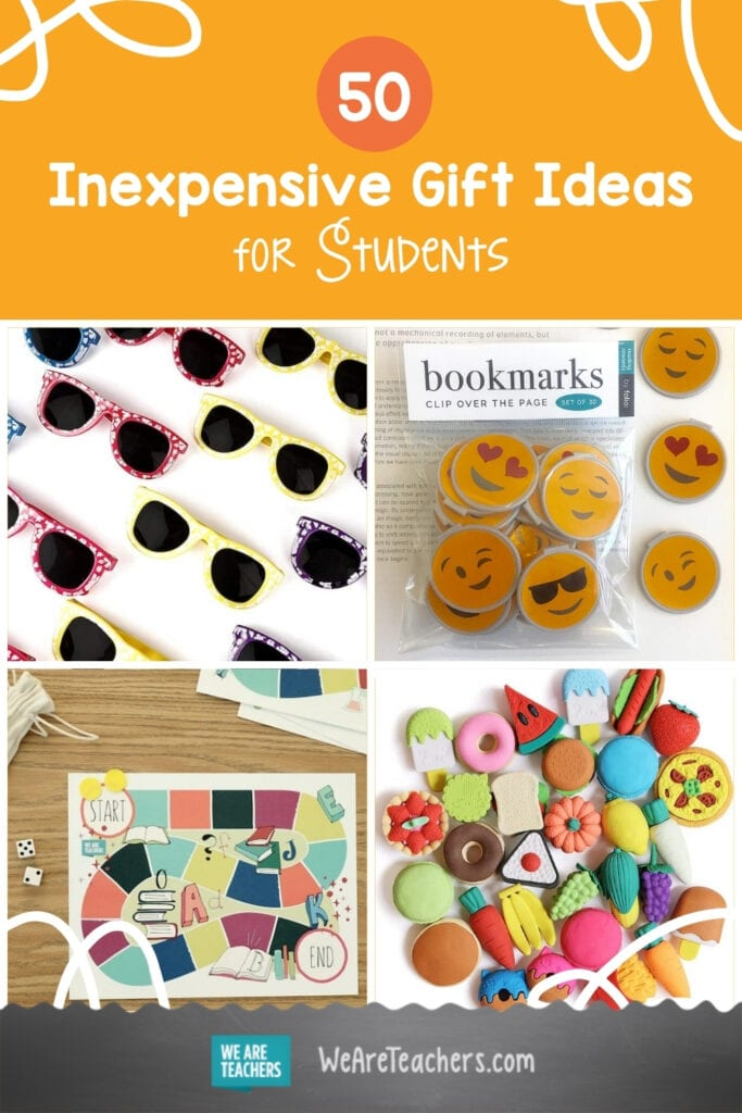50 Inexpensive Gift Ideas for Students To Celebrate the End of the School Year