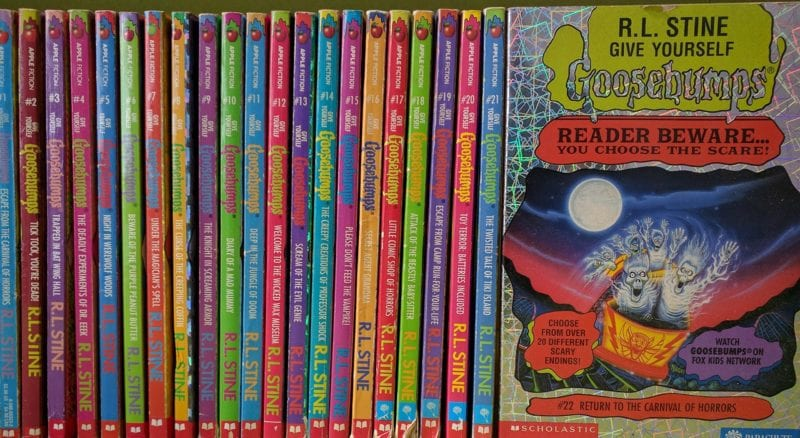 Collection of Goosebumps books for kids