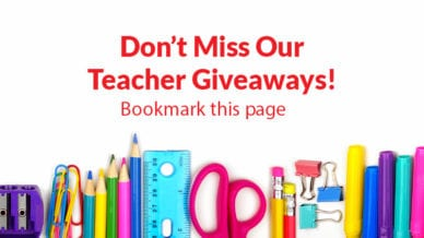 Don't Miss Our Teacher Giveaways! Book this page