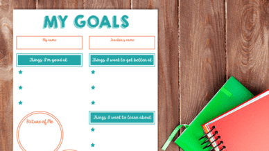 This Goal-Setting Worksheet Is Perfect for Back-to-School