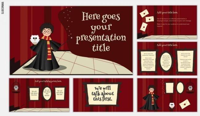 Google Slides Templates Harry Potter