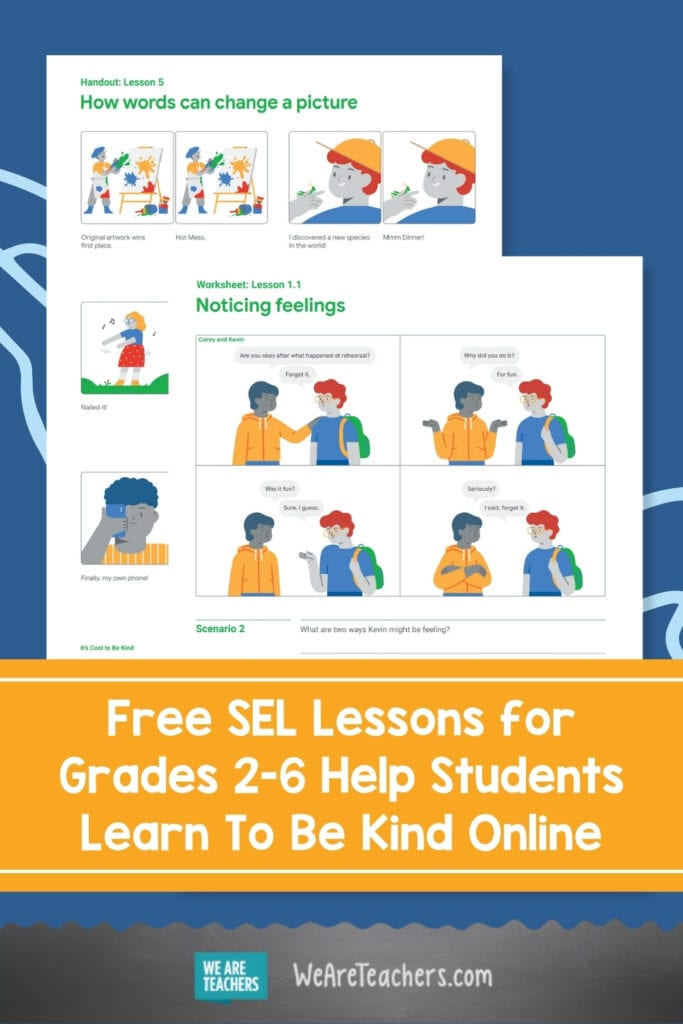 These Free SEL Lessons for Grades 2-6 Help Students Learn To Be Kind Online
