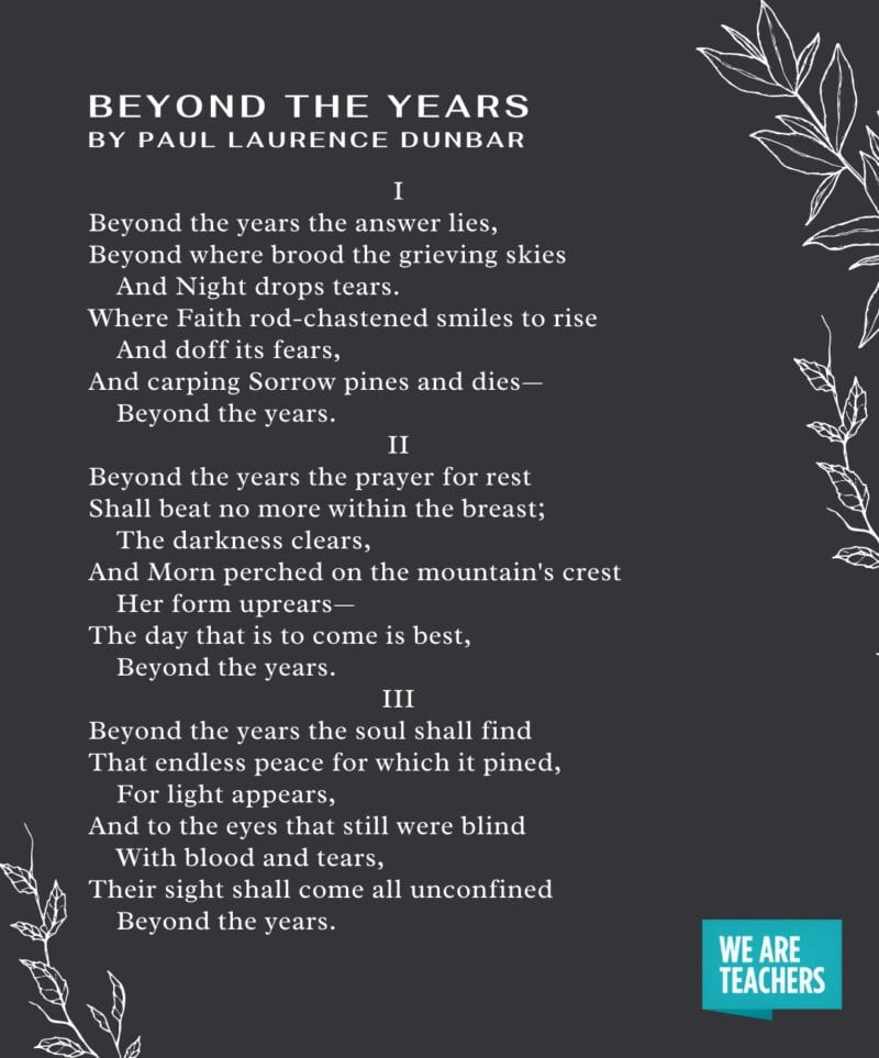 Graduation Poems - Beyond the Years