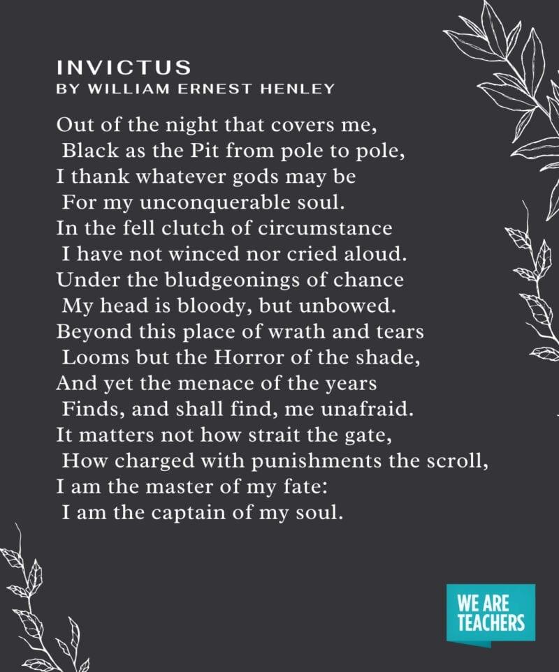 Graduation Poems - Invictus