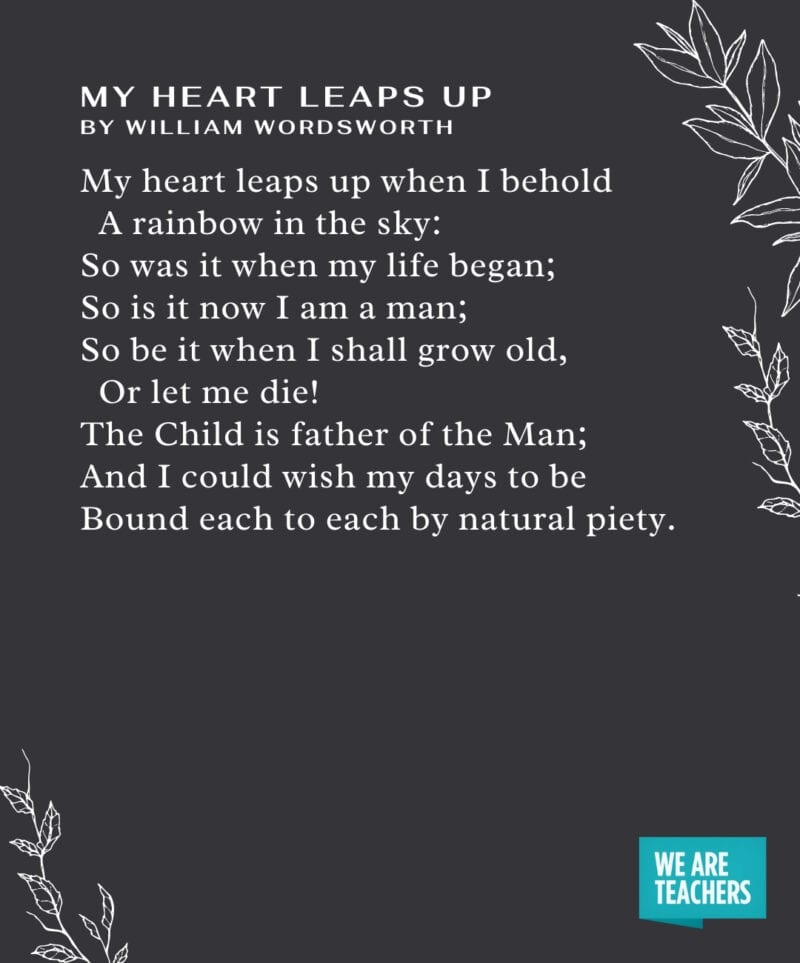 Graduation Poems - My Heart Leaps Up