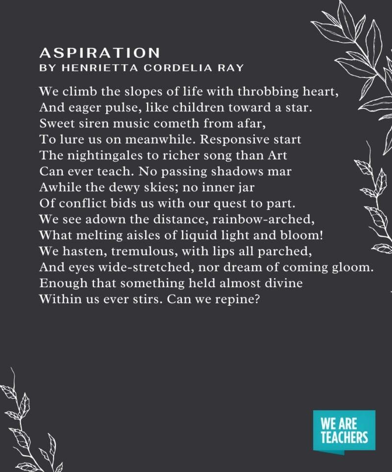 Graduation Poems - Aspiration
