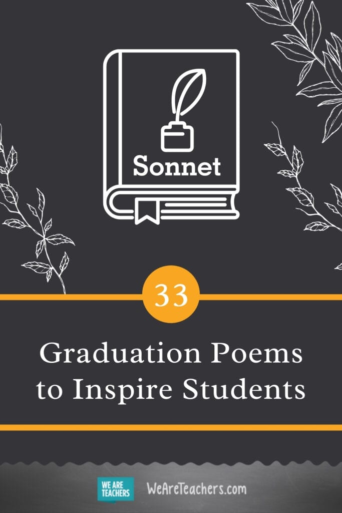 33 Graduation Poems to Inspire Students