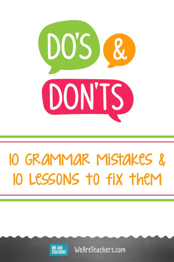 10 Grammar Mistakes & 10 Lessons to Fix Them
