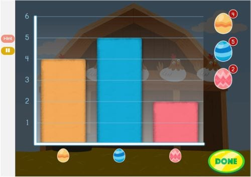 Graphing With Eggs - The Best Online Interactive Math Games