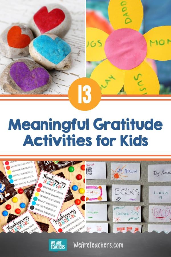 13 Meaningful Gratitude Activities for Kids