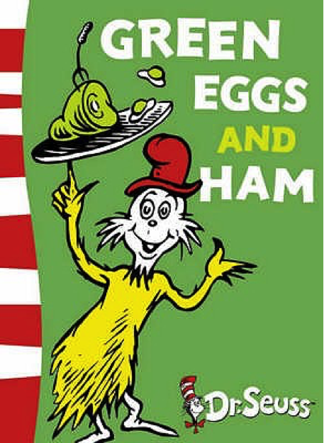Green Eggs and Ham Book Cover - Popular Kids Books