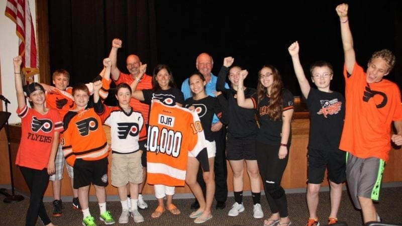 Group of student participants in EVERFI Hockey Scholar program
