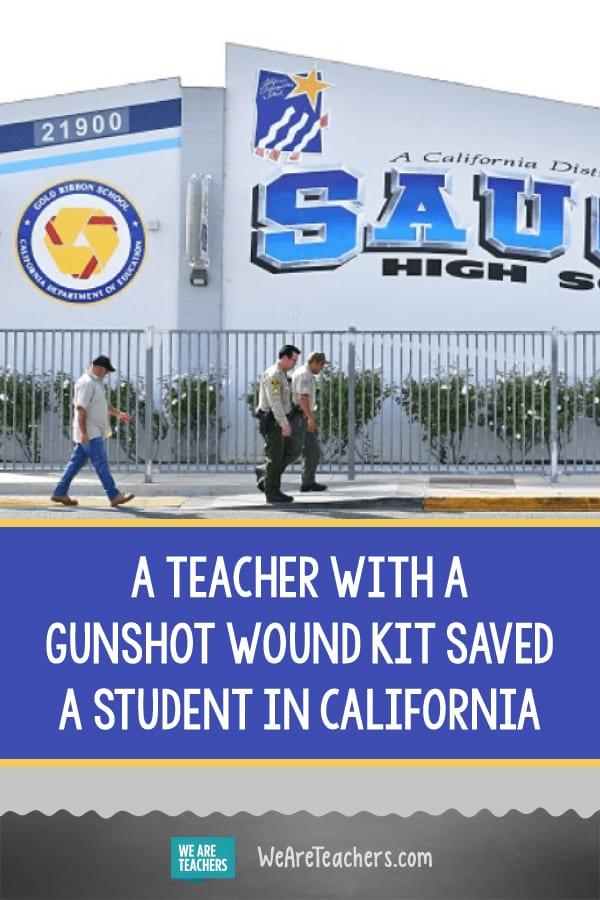 A Teacher With a Gunshot Wound Kit Saved a Student in California