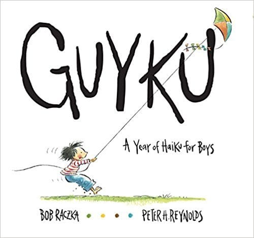 Book cover for Guyku: A Year of Haiku for Boys, as an example of poetry books for kids