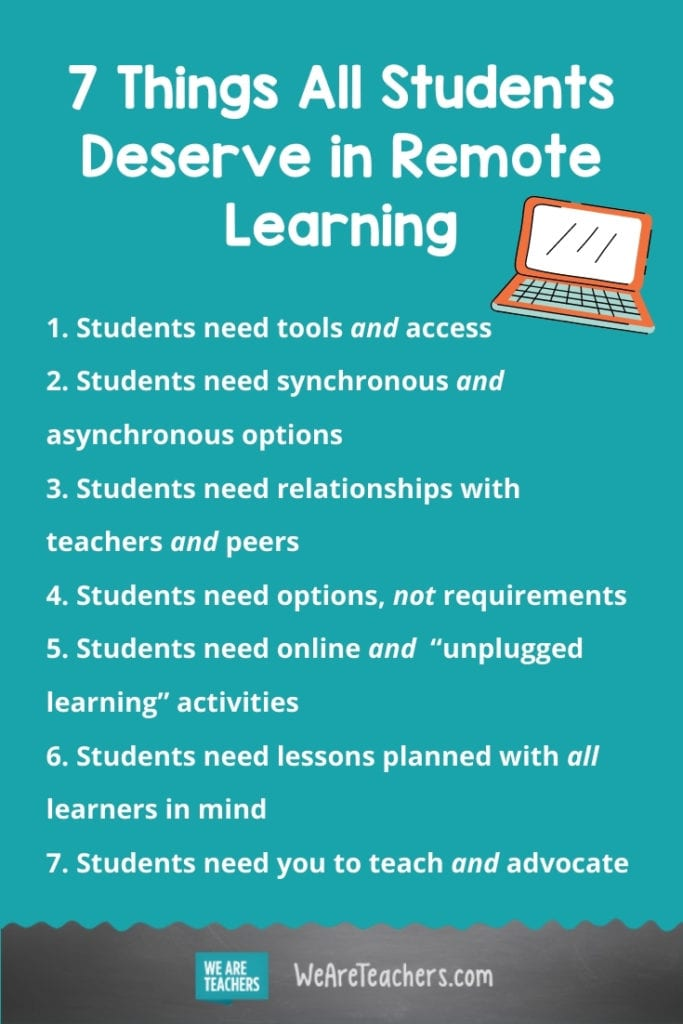 7 Things All Kids Deserve in Remote Learning