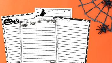 Free Halloween Writing Paper and Writing Prompts