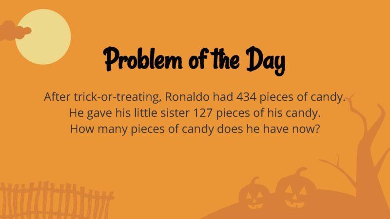 Halloween math word problem