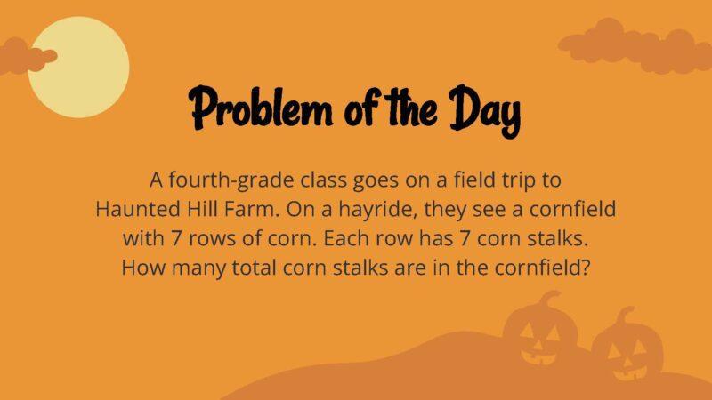 Halloween word problem