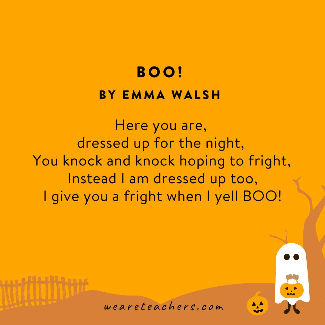 Boo! by Emma Walsh