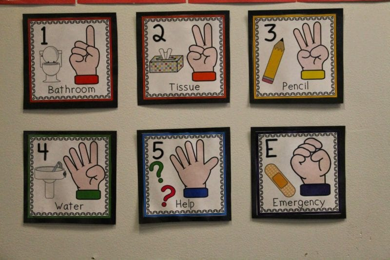 Hand Signals - 10 Classroom Procedures That Will Save Your Sanity