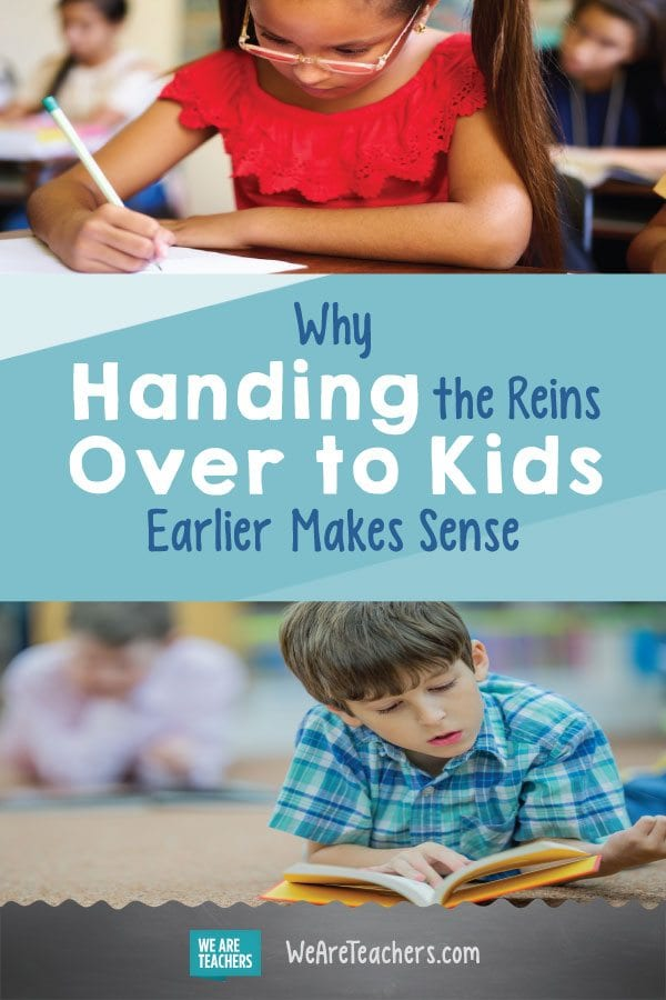 Why Handing the Reins Over to Kids Earlier Makes Sense