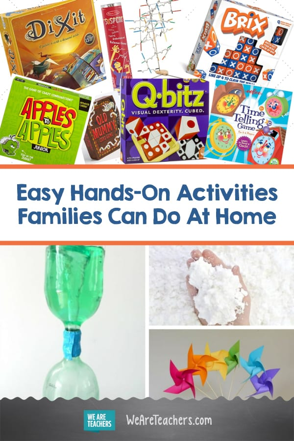 Easy Hands-On Activities Families Can Do At Home (Teacher Approved!)
