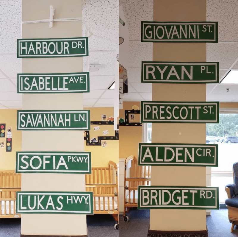 Student Name Street Signs