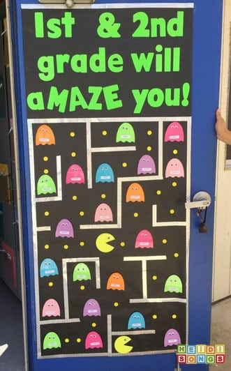 Pac Man Bulletin Boards For The Classroom Weareteachers
