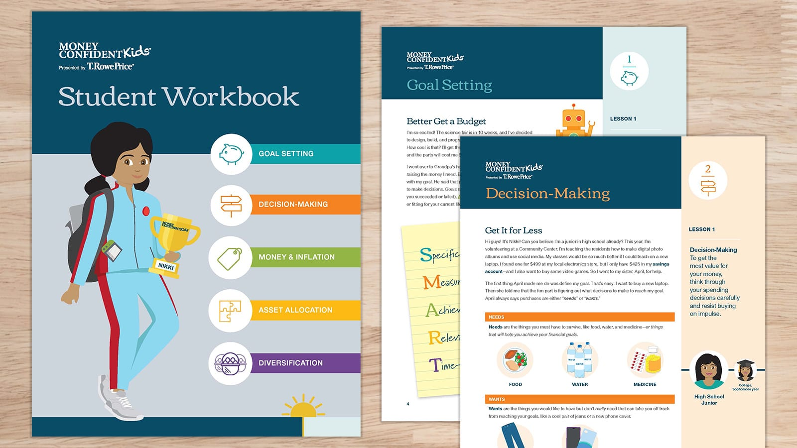 A student workbook and teacher's guide for teaching students financial readiness.