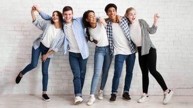 Image of a group of teen.