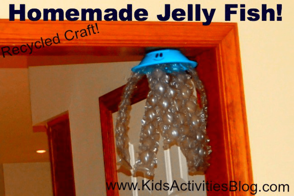 recycled materials jellyfish craft
