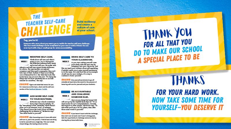 Teacher Self-Care Challenge Printable