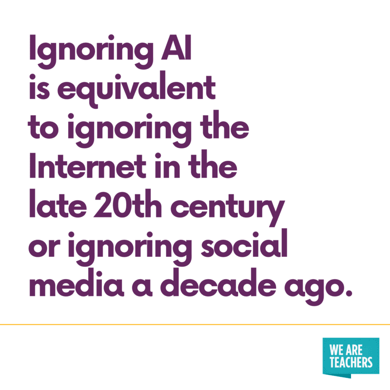 """Ignoring AI is equivalent to ignoring the Internet in the 20th Century"""