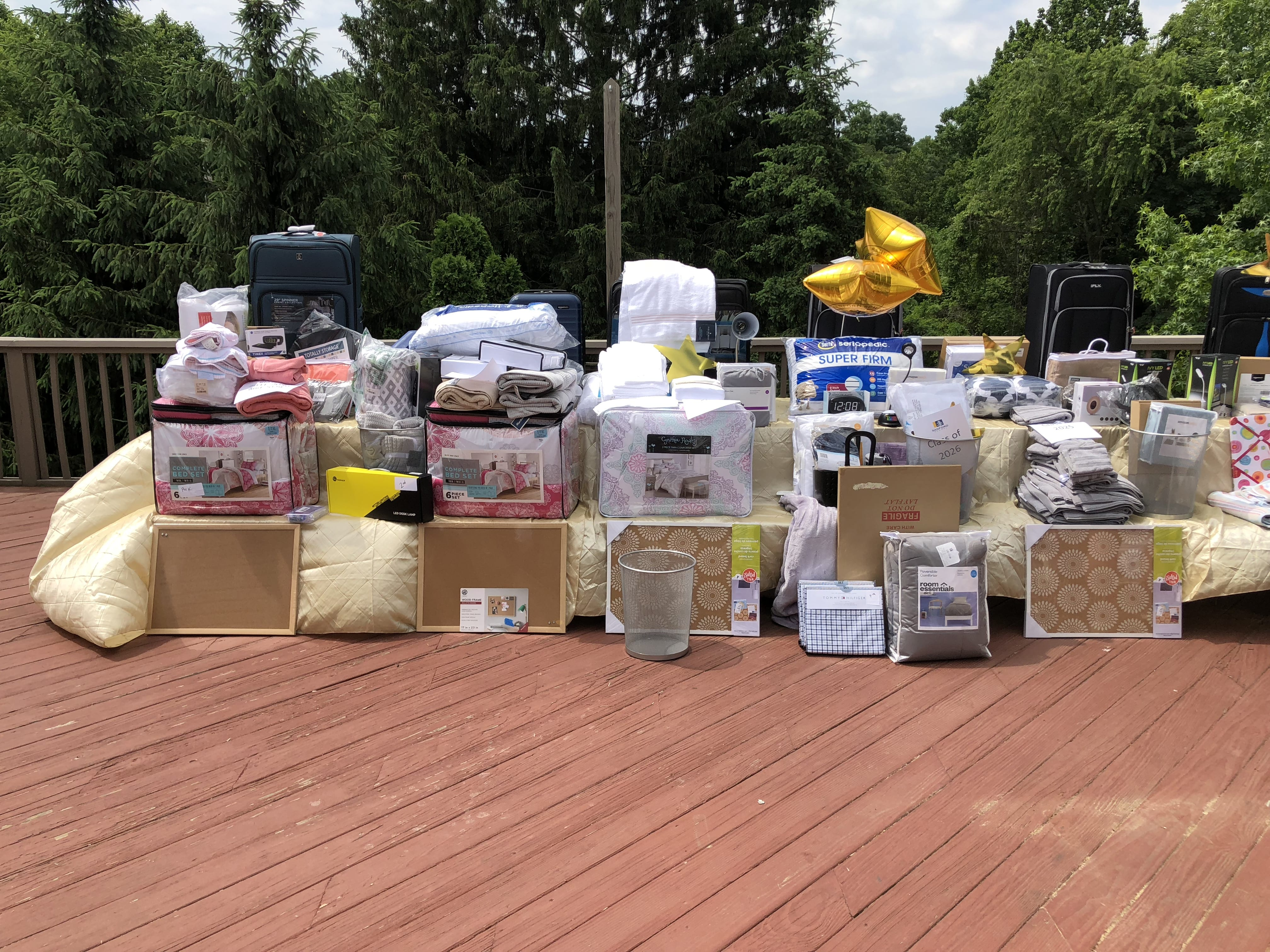 College dorm supplies collected for Taryn-Marie's Girl Scout Gold Award Project