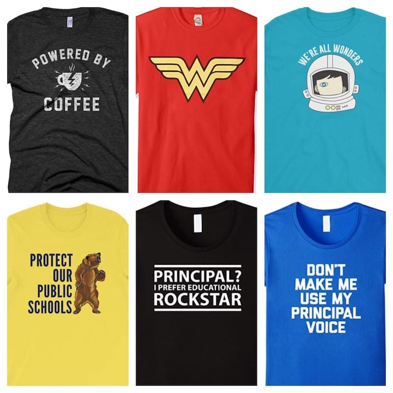 12 Essential T-Shirts for Principals