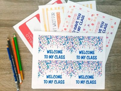 Free Printable Welcome Postcards for Teachers - WeAreTeachers