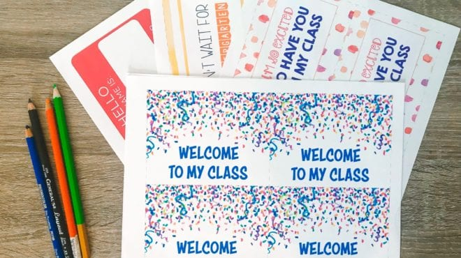 Free Printable Welcome Postcards for Teachers - WeAreTeachers