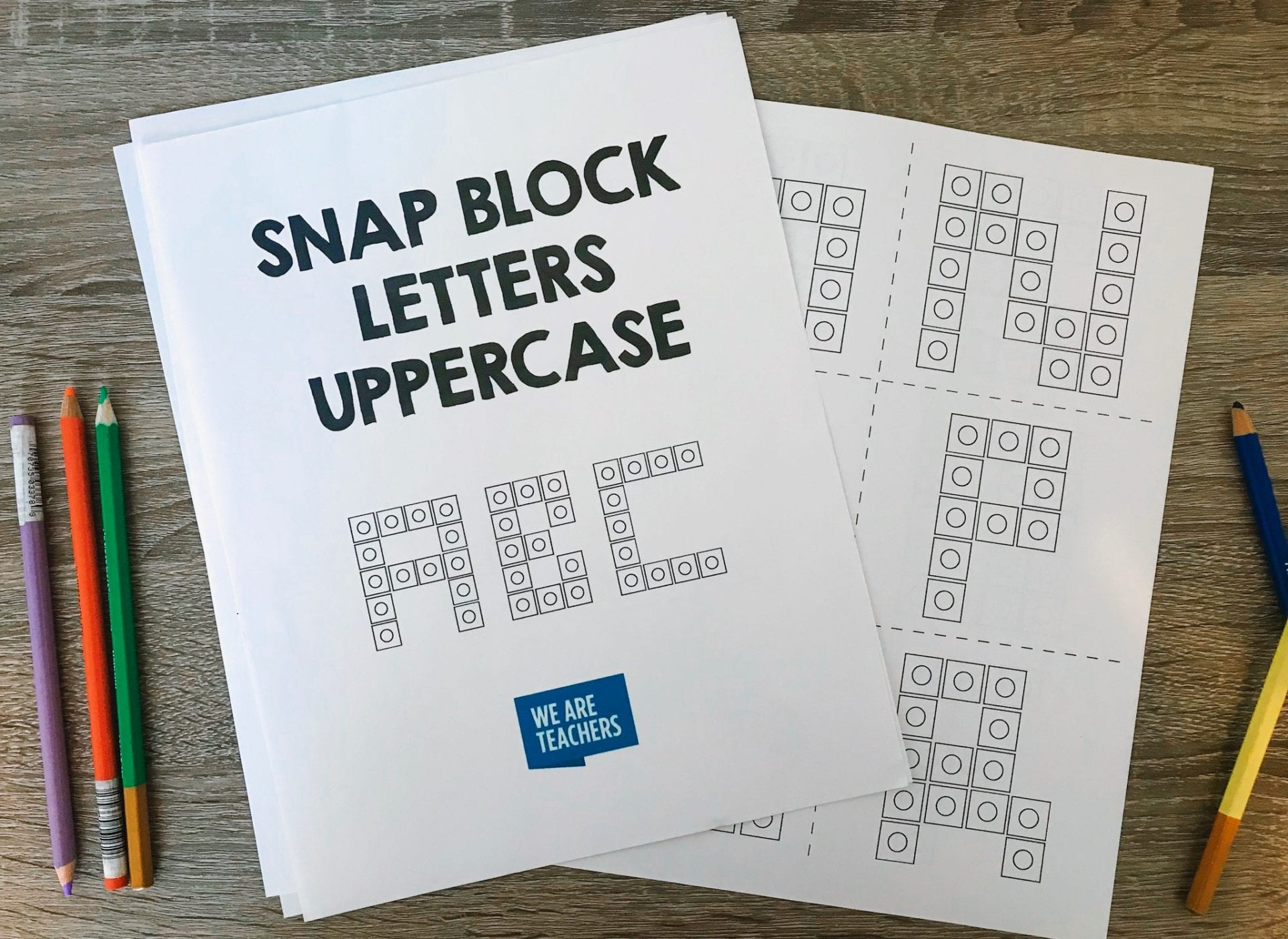 snap block letters