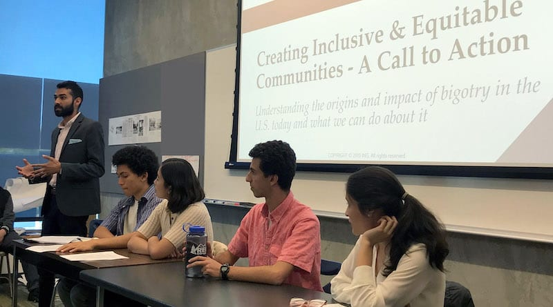 5 people on a panel on creating inclusive communities