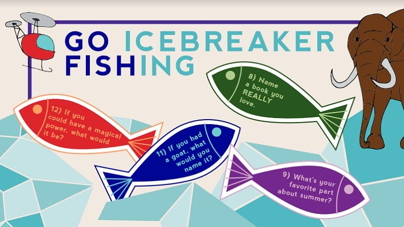 photograph relating to Printable Fishing named Move Fishing With This Cute Clroom Icebreakers Printable
