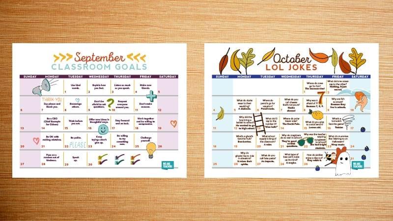 Free Printable 2020 Teacher Calendar - WeAreTeachers