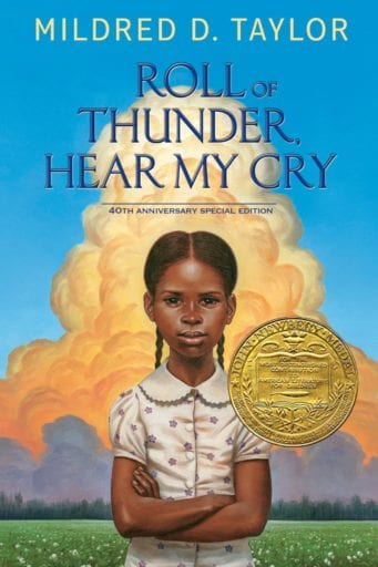 Roll of Thunder, Hear My Cry book cover--middle school books